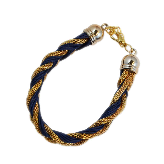 Armband Braided Gold Blue