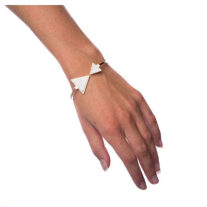 Armband White Marble - Triangle