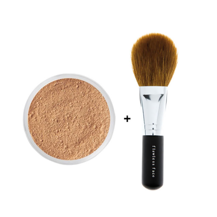 Bare Minerals Foundation Medium Beige 8g + Flawless face brush