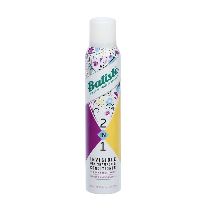 Batiste 2in1 Vanilla & Passionflower Dry Shampoo 200ml