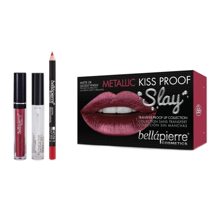 Bellapierre Kiss Proof Metallic Slay Kit - Red-esque