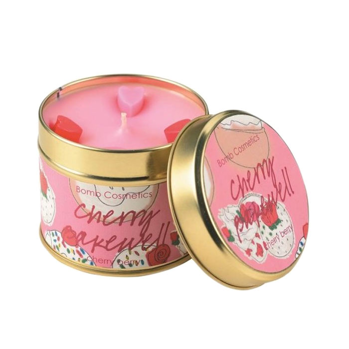 Bomb Cosmetics Tin Candle Cherry Bakewell