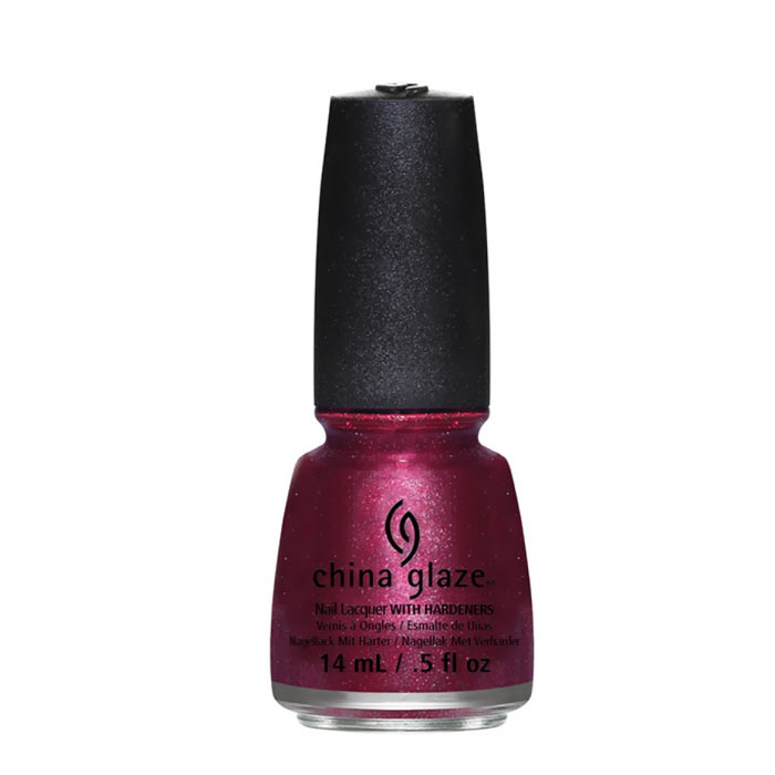 China Glaze Nail Polish Santa Red My List 14ml