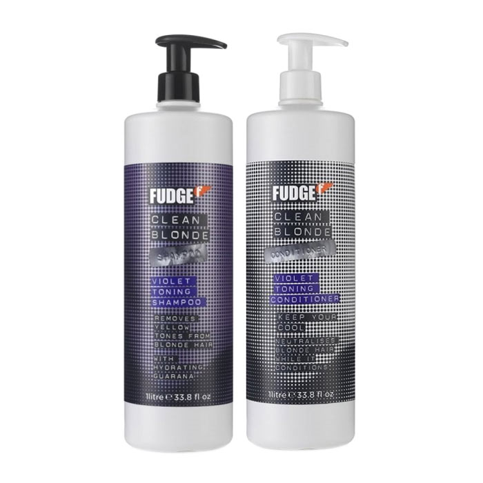 Fudge Clean Blonde Violet Shampoo 1000ml + Conditioner 1000ml