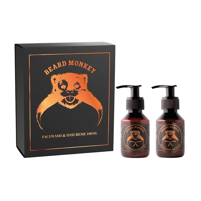 Giftset Beard Monkey Facewash 100ml & Daycreme 100ml