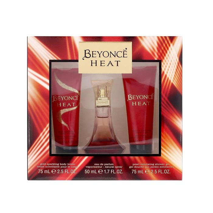 Giftset Beyonce Heat Edp 50ml + Exfoliating Shower Gel + Sparkling Body Lotion