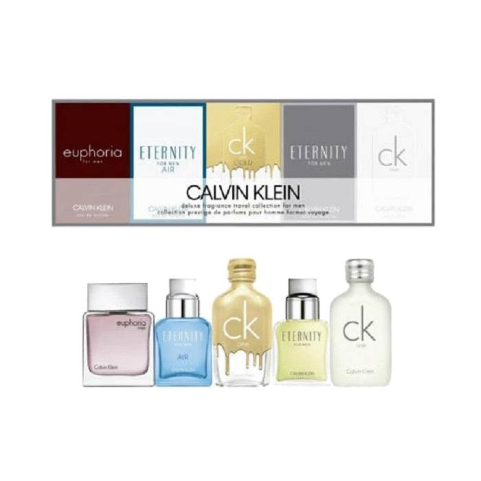 Giftset Calvin Klein Deluxe Travel Collection For Men 5 x Edt 10ml