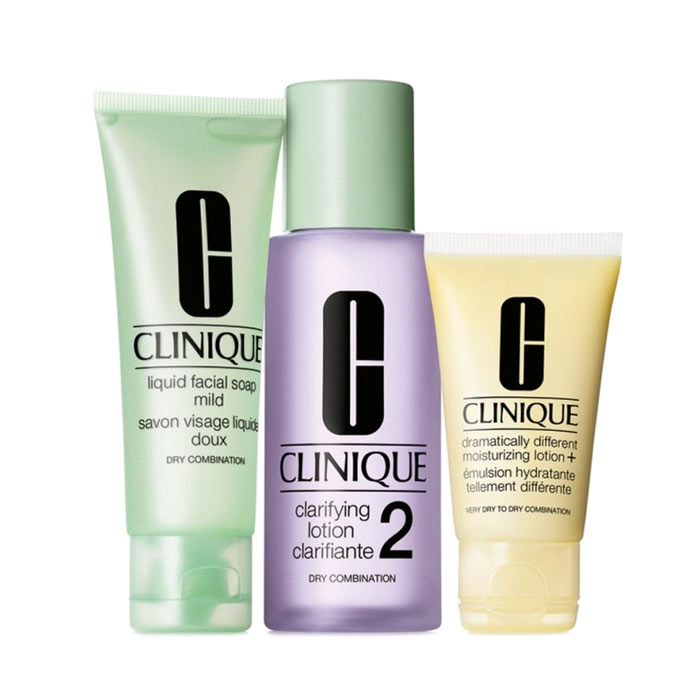 Giftset Clinique 3 step Skin Care System 2