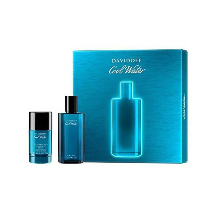 Giftset Davidoff Cool Water Edt 75ml + Deostick 75 ml
