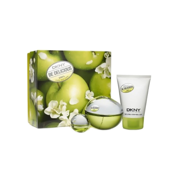 Giftset DKNY Be Delicious Edp 100 ml + Edp 7ml + Body Lotion