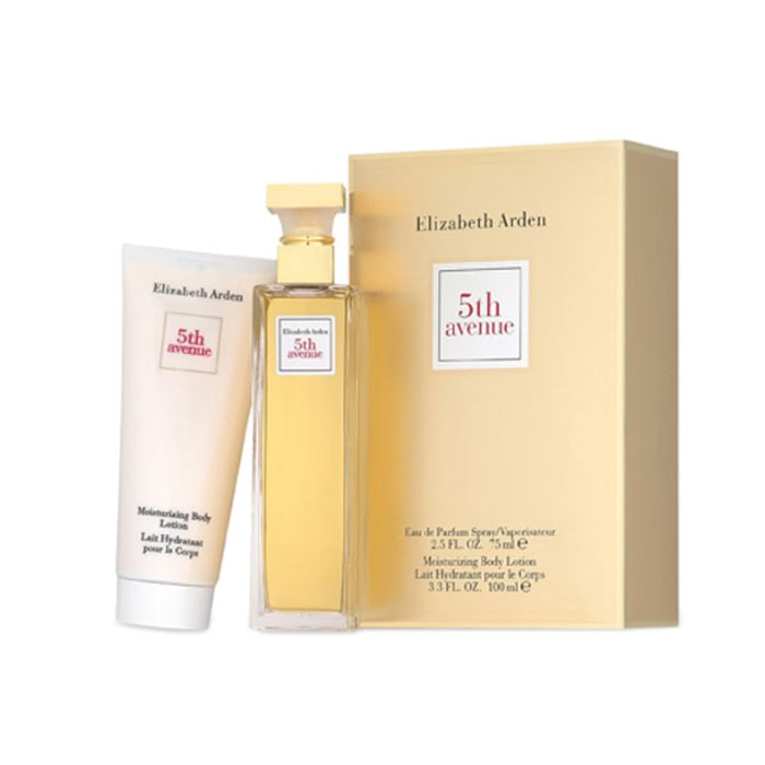Giftset Elizabeth Arden 5th Avenue Edp 75ml + Body Lotion 100ml