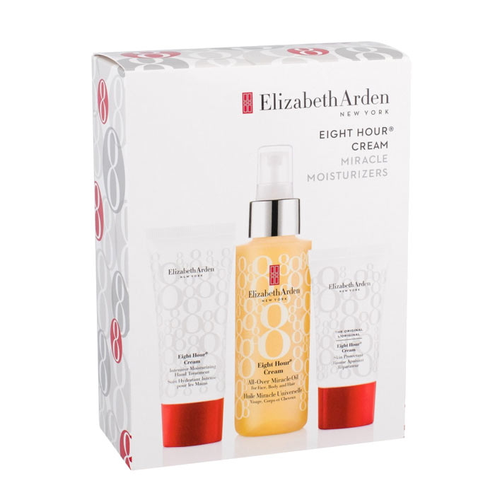 Giftset Elizabeth Arden Eight Hour Cream Miracle Moisturizers 3pcs White Box
