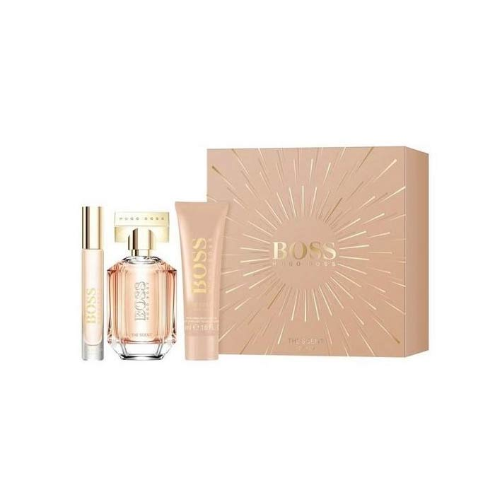 Giftset Hugo Boss The Scent For Her Edp 50ml + BL 50ml + Edp 7,4ml
