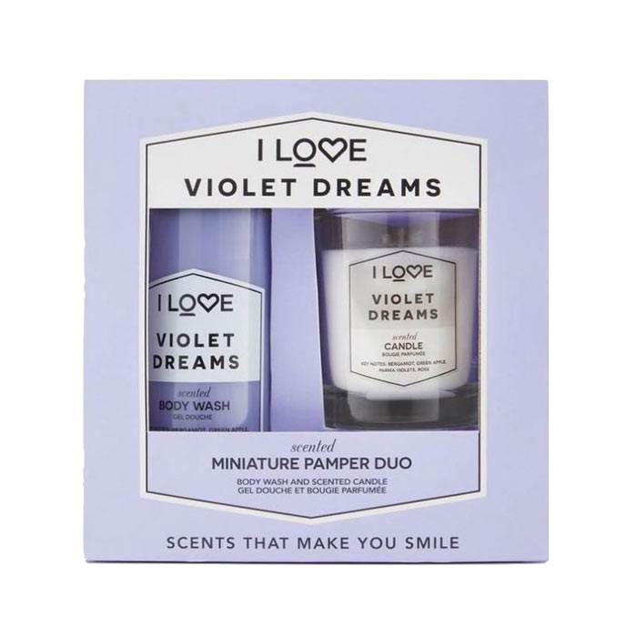 Giftset I Love...Miniature Pamper Duo Violet Dreams