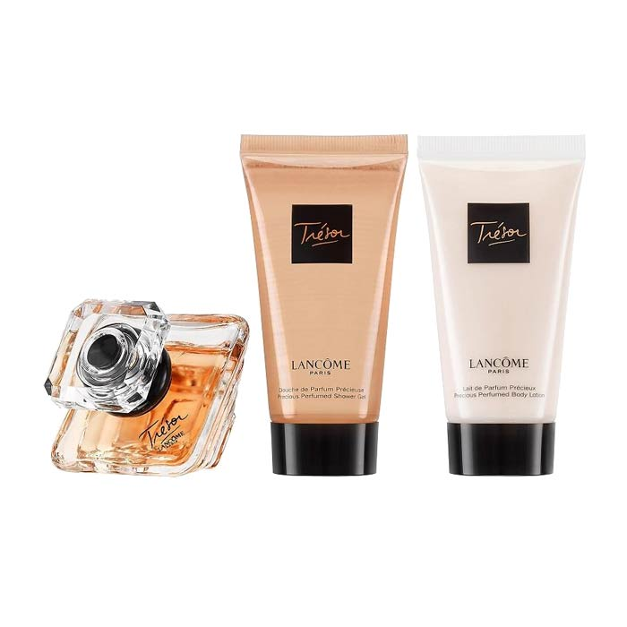 Giftset Lancome Tresor Edp spray 30ml + Body Lotion 50ml + Shower Gel 50ml