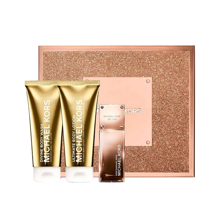 Giftset Michael Kors Rose Radiant Gold Edp 50ml + BL + SG 100ml