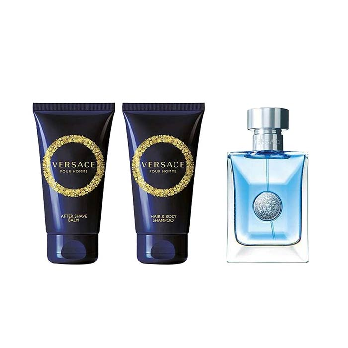 Giftset Versace Pour Homme Edt 50 ml + Aftershave Balm 50 ml + Body Wash 50ml