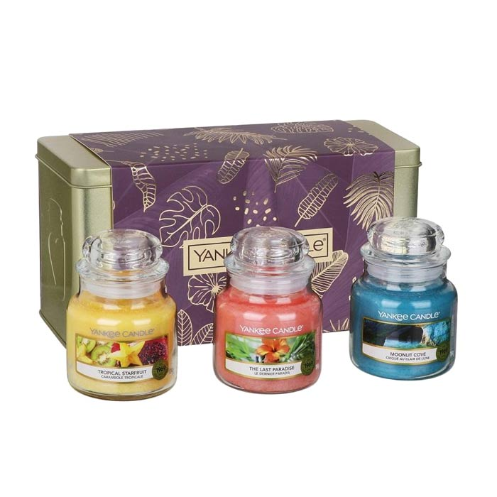 Giftset Yankee Candle 3 Small Jar Candles - The Last Paradise
