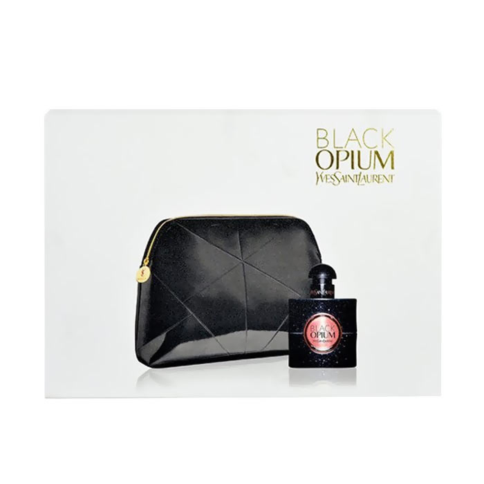 Giftset Yves Saint Laurent Black Opium Edp 30ml + Cosmetic Bag