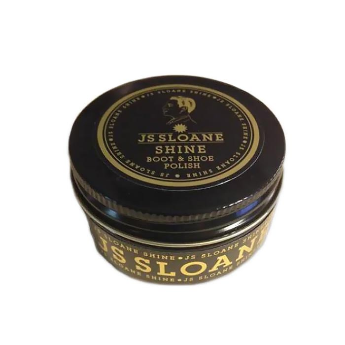 JS Sloane Black Shoe Polish 50g
