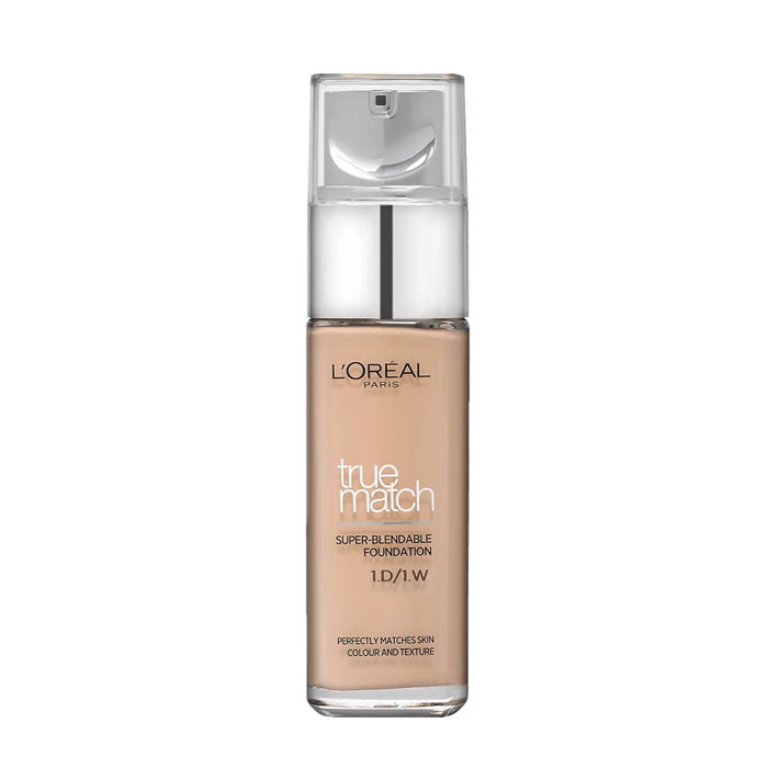 LOreal True Match Foundation W1 Golden Ivory 30ml