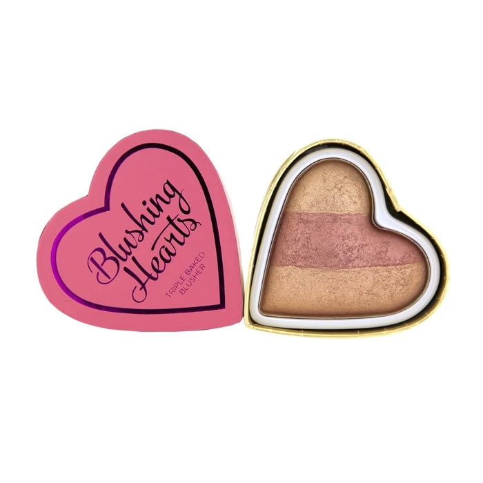 Makeup Revolution Blushing Hearts - Peachy Keen Hearts Blusher