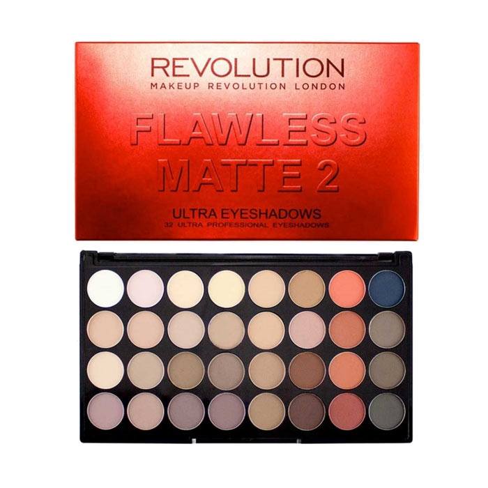 Makeup Revolution Ultra 32 Shade Eyeshadow Palette - Flawless Matte 2