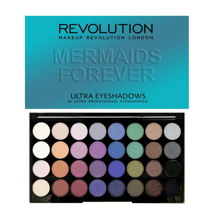 Makeup Revolution Ultra 32 Shade Eyeshadow Palette - Mermaids Forever