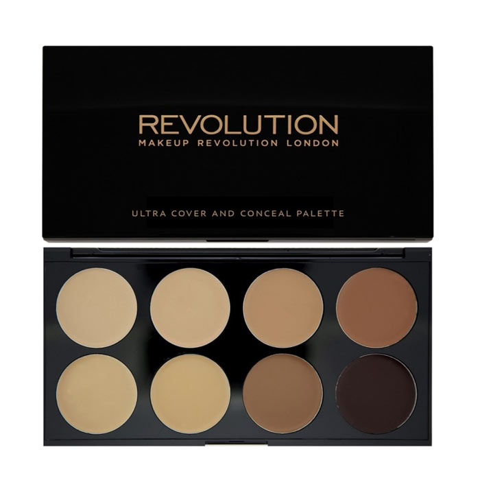 Makeup Revolution Ultra Cover and Conceal Palette Medium - Dark