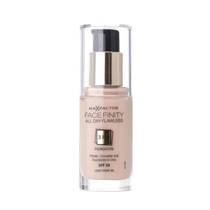 Max Factor Facefinity 3 In 1 Foundation 40 Light Ivory