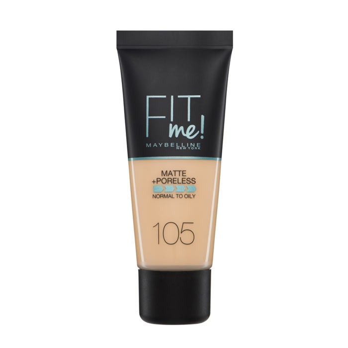 Maybelline Fit Me Matte + Poreless Foundation- 105 Natural Ivory