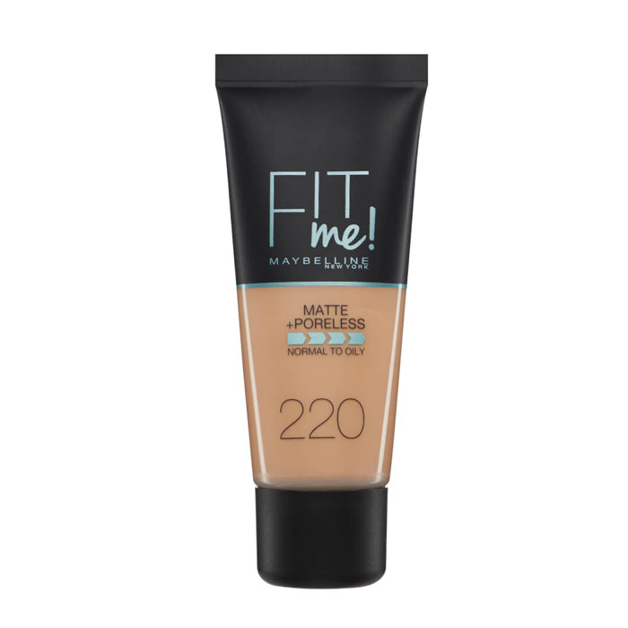 Maybelline Fit Me Matte + Poreless Foundation- 220 Natural Beige