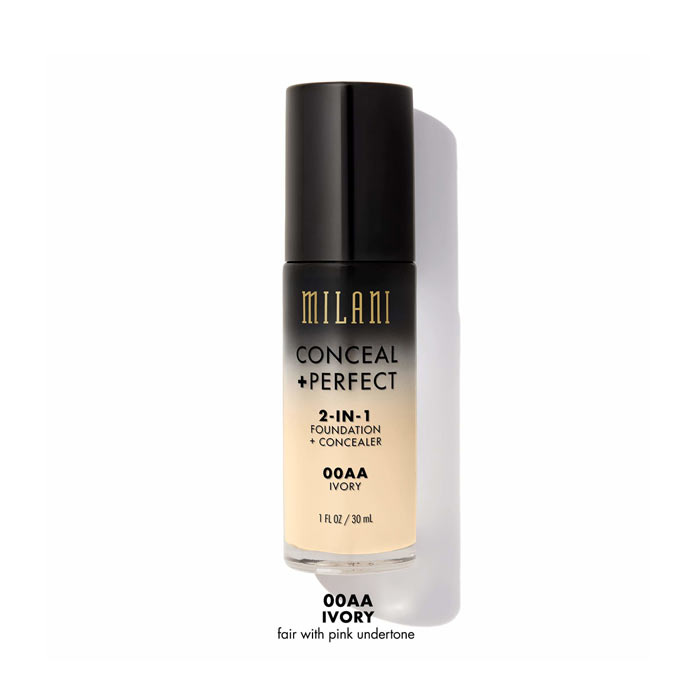 Milani Conceal+Perfect Liquid Foundation - 00AA Ivory
