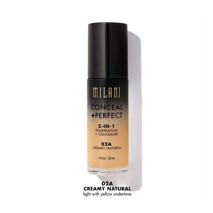 Milani Conceal+Perfect Liquid Foundation - 02A Creamy Natural