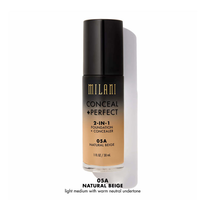 Milani Conceal+Perfect Liquid Foundation - 05A Natural Beige