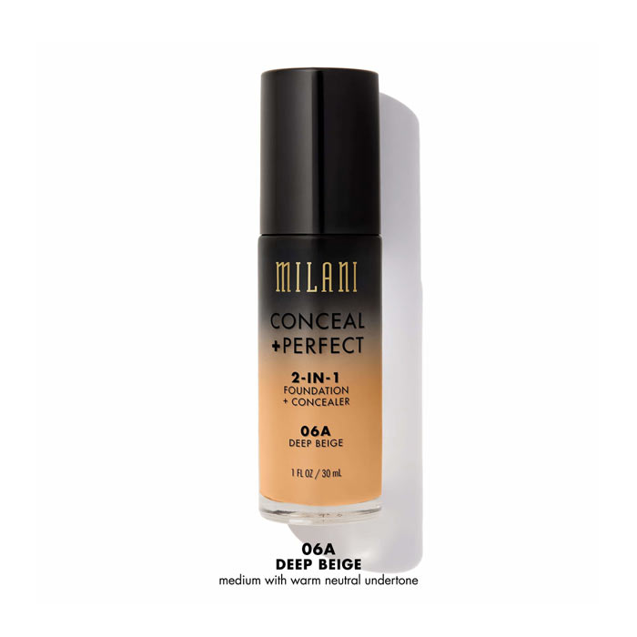 Milani Conceal+Perfect Liquid Foundation - 06A Deep Beige