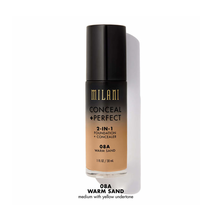 Milani Conceal+Perfect Liquid Foundation - 08A Warm Sand