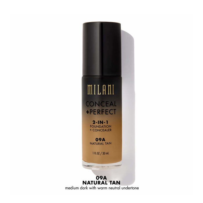 Milani Conceal+Perfect Liquid Foundation - 09A Natural Tan