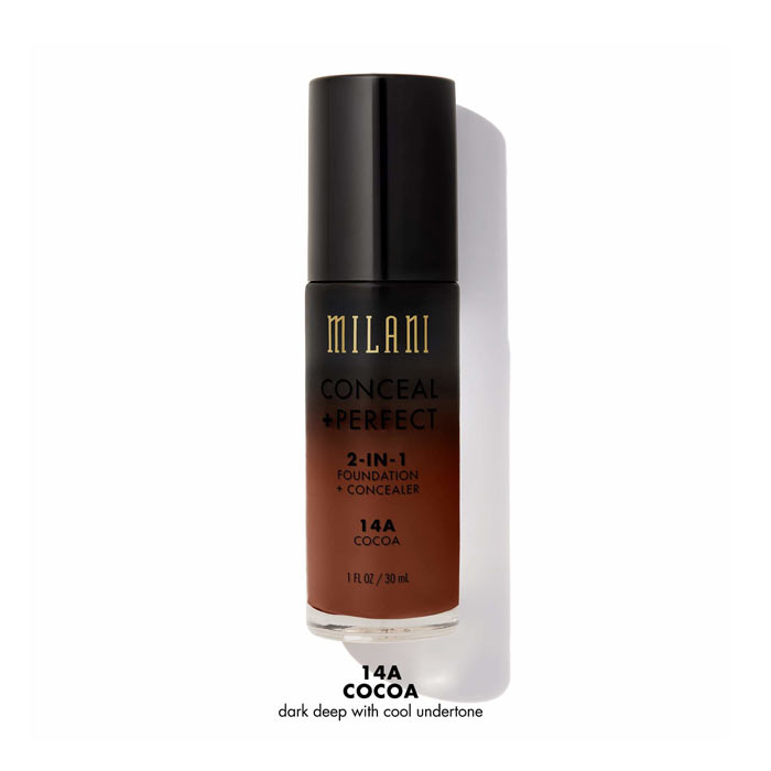 Milani Conceal+Perfect Liquid Foundation - 14A Cocoa