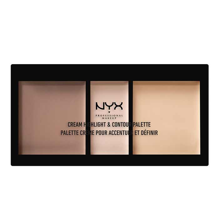 NYX PROF. MAKEUP Cream Highlight & Contour Palette Light
