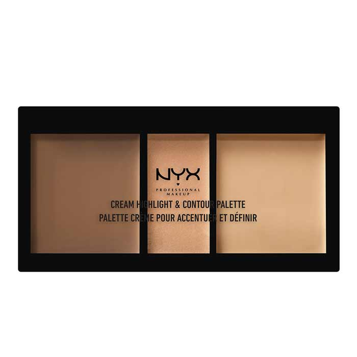 NYX PROF. MAKEUP Cream Highlight & Contour Palette Medium