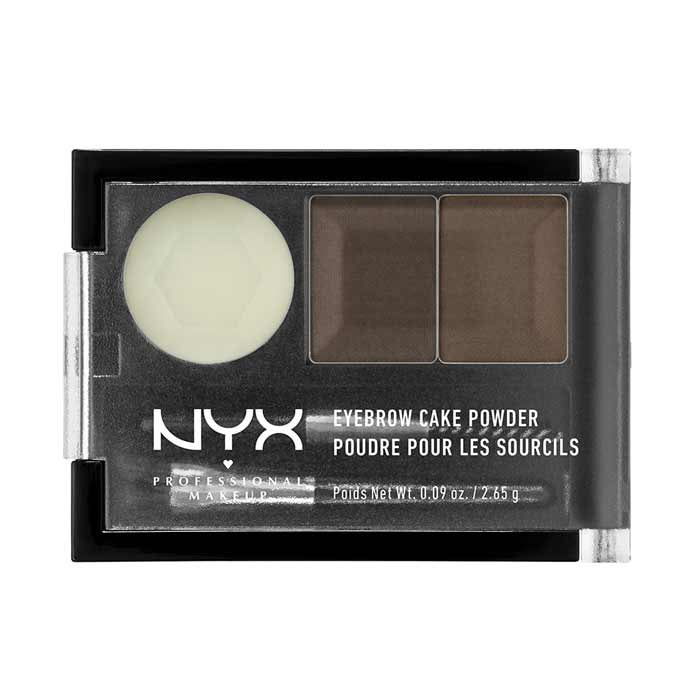 NYX PROF. MAKEUP Eyebrow Cake Dark Brown