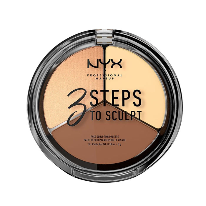 NYX PROF. MAKEUP 3 Steps To Sculpt Face Sculpting Palette - Light