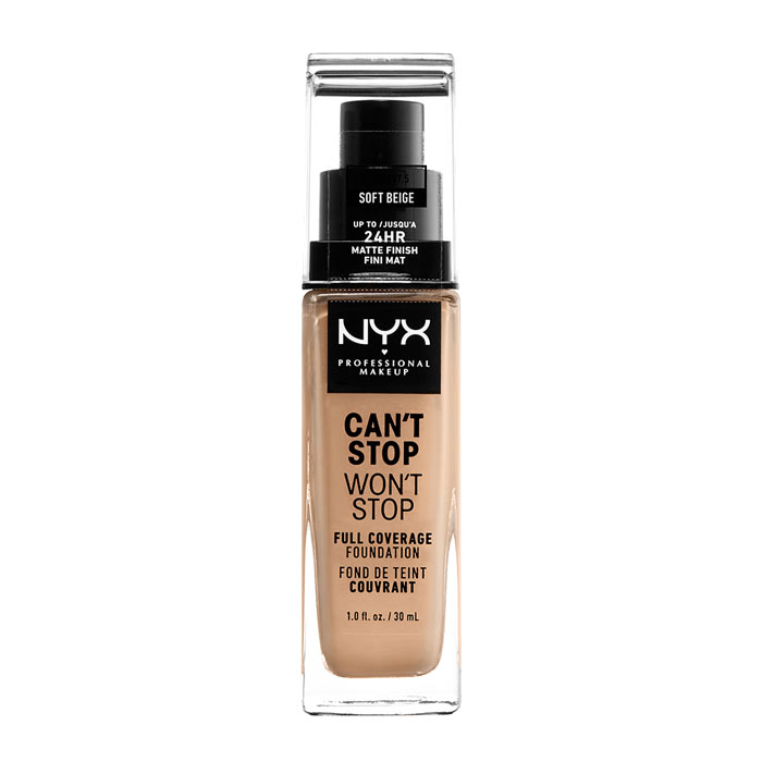 NYX PROF. MAKEUP Can t Stop Won t Stop Foundation - Soft Beige