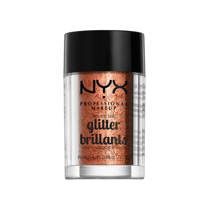 NYX PROF. MAKEUP Face & Body Glitter - 04 Copper 2,5g