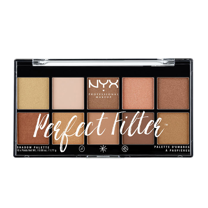 NYX PROF. MAKEUP Perfect Filter Shadow Palette Golden Hour