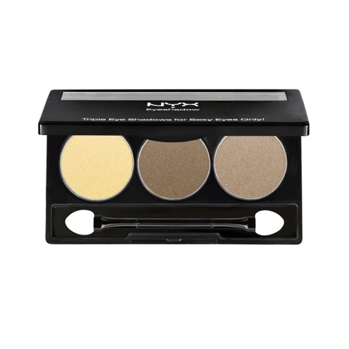 NYX Trio Eyeshadow Highlight Brown Suede