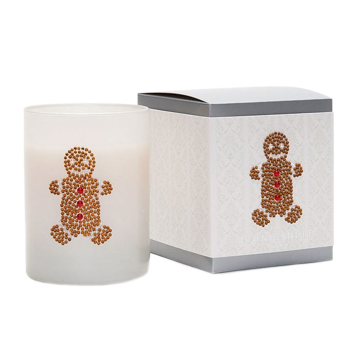 Primal Elements Icon Candle Gingerbread Man