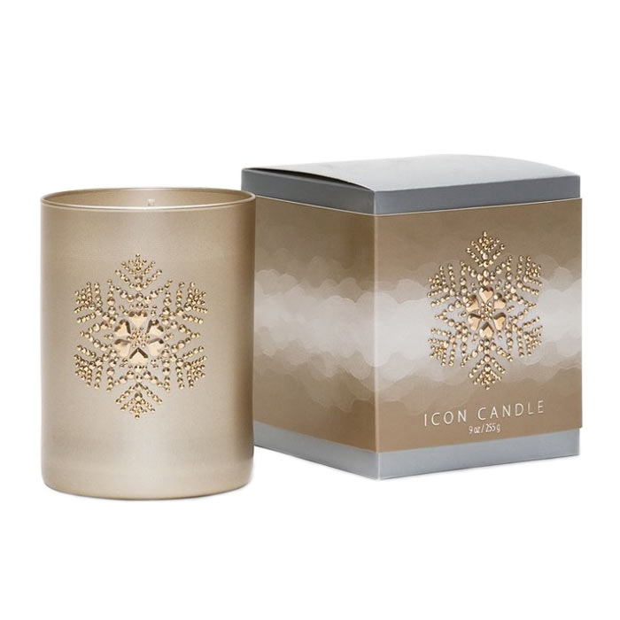 Primal Elements Icon Candle Snowflake Vintage