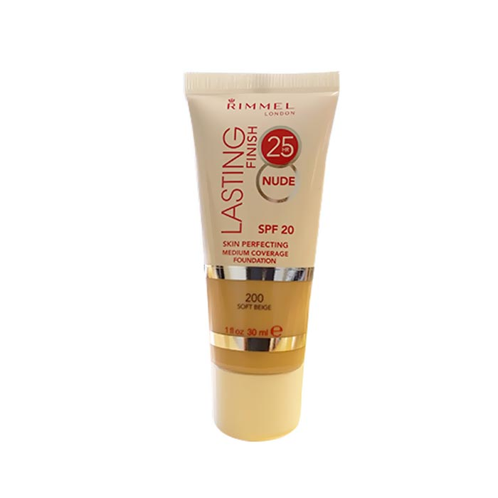 Rimmel Lasting Finish 25h Nude Foundation 200 Soft Beige 30ml
